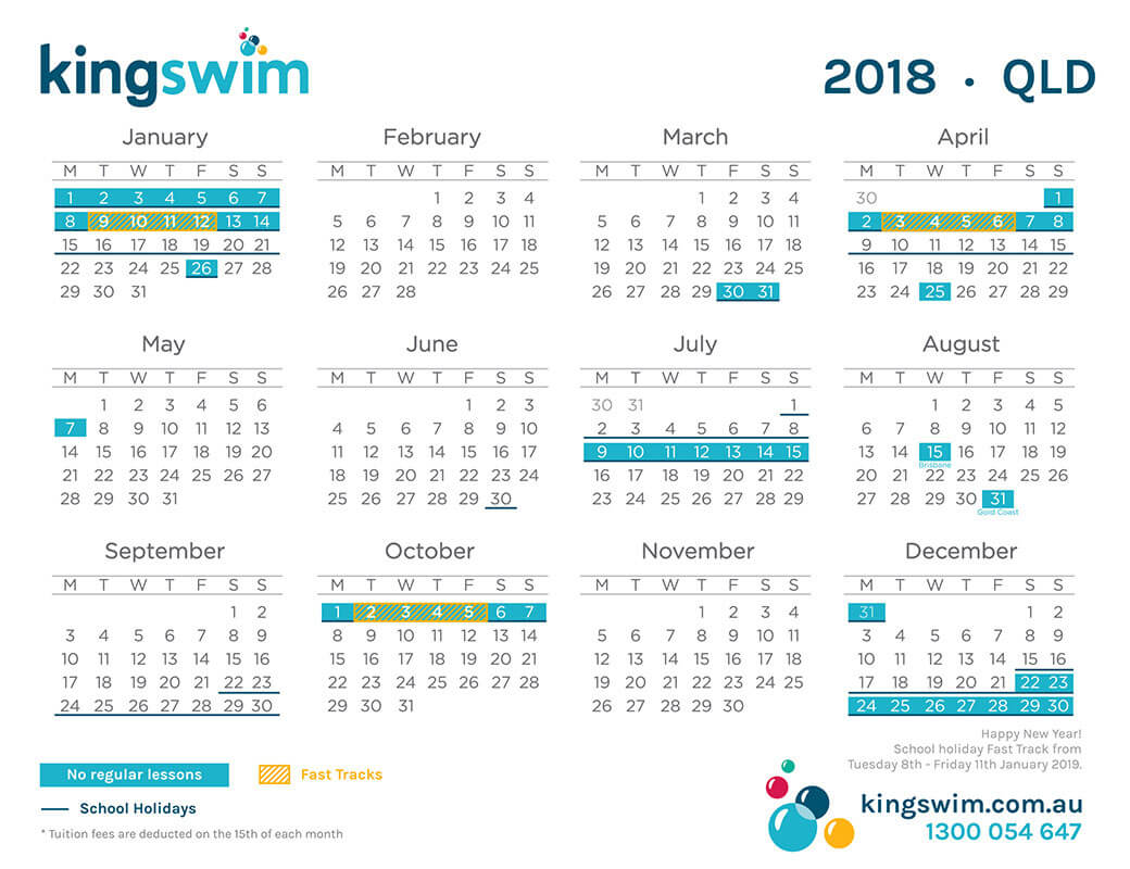 Calendar Qld School Holidays : Carindale swimming school learn to swim in