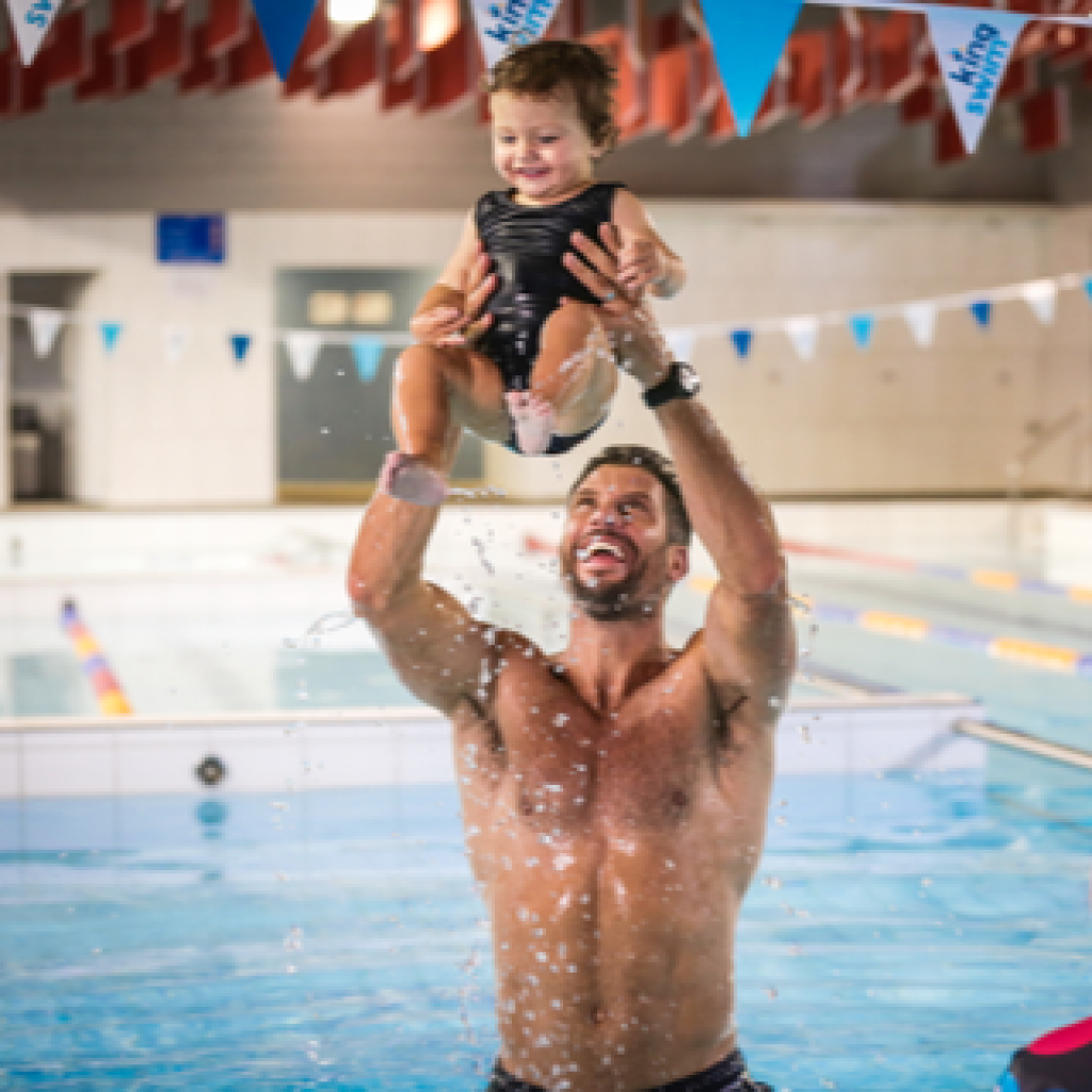 Sam Wood shares baby Willow's first lesson and why he's encouraging all kids to get swimming